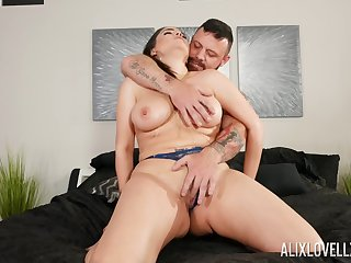 MILF gets dick in both holes and sperm to cover those lips