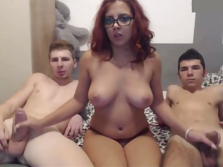 This redhead is a true fuckdoll and she can't live without threesomes