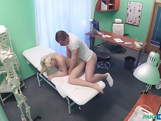 Perverted physician has a go at sexy patient Lucy Shine