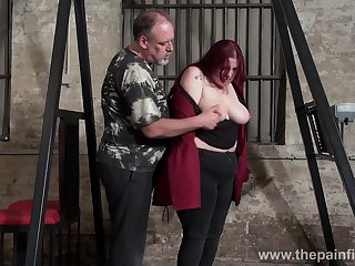 Real fat whore Emma gets undressed and treated in hard mode by buddy