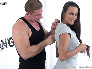 Sexy Czech model Mea Melone is fucked by one horny stranger