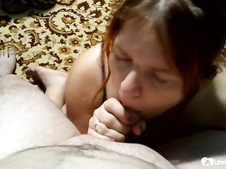 As the camera starts rolling, she will already be on her knees sucking