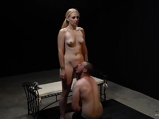 Obedient guy pleases his female with crazy XXX femdom