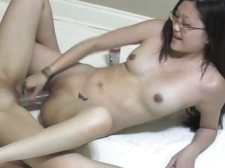 Amateur pov lesbian pussy toying in homemade action
