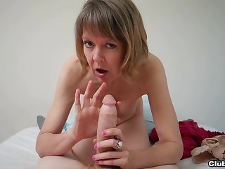 Amateur mature likes the taste of dick in a flawless POV