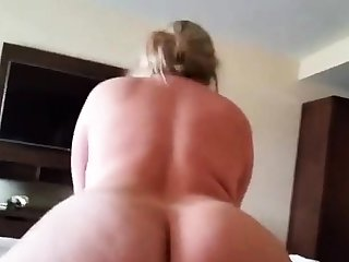 Big ass blonde riding