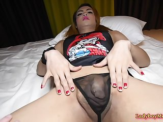 Ladyboy Ning Gives Frottage Blowjob And Ass Fucked