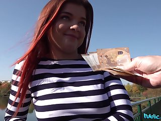 Cute European teen likes the idea of fucking for money
