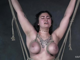 Ella Jane is no stranger to breast bondage and she's perfectly submissive