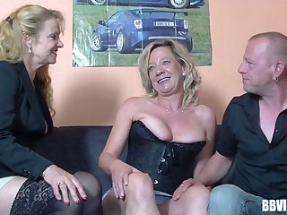 Amateur German wife wanted to try group sex with her friends