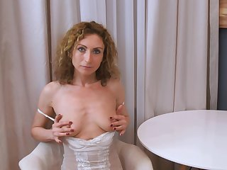 Amateur homemade video of wife Dafna May doing a striptease