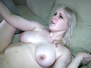 Busty blonde slut, Kiki Parker is eager to have anal sex, even with her husbands best friend