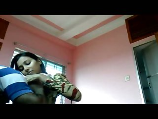 Real dark haired Indian whorish GF bows and sucks strong delicious cock
