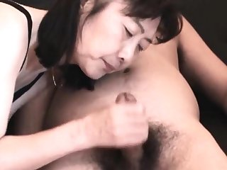 Chie loves sucking cock, 50's matured school teacher