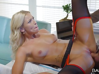 Fucking on the office table with seductive blonde Karol Lilien