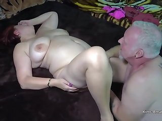 Busty redhead is spreading up for her husbands friend or getting fucked hard from the back